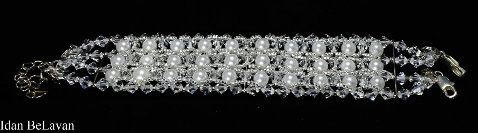 תכשיטים לכלה - צמיד פנינים לבנות - עידן בלבן ראשון לציון