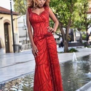 שמלות ערב 2018 אדום ארוך