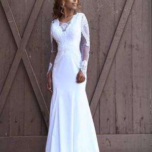 שמלה צמודה עם סאטן משי